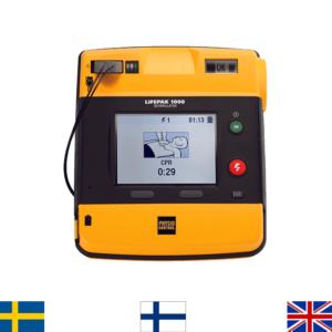 Physio-Control Lifepak 1000 Defibrillaattori (3-Kytk. EKG mahdollisuudella)